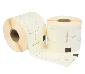 Brother DK-11202 compatible labels, 62mm x 100mm, 300 etiketten, wit, permanent