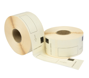 Brother DK-11208 compatible labels, 38mm x 90mm, 400 etiketten, wit, permanent