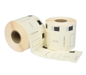 Brother DK-11209 compatible labels, 29mm x 62mm, 800 etiketten, wit, permanent