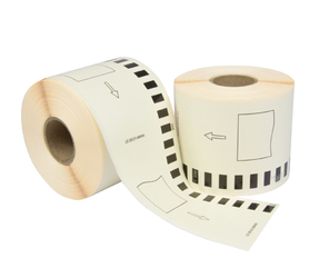 Brother DK-22205 compatible labels, 62mm x 30.48m, wit, permanent