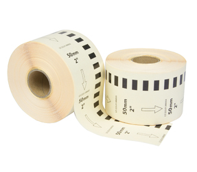 Brother DK-22223 étiquettes compatibles, 50mm x 30.48m, blanches, permanentes