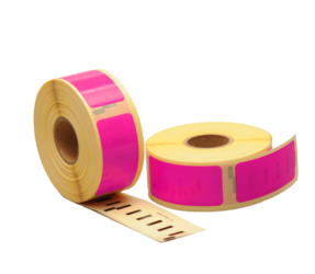 Dymo 11352 compatible labels, 54mm x 25mm, 500 etiketten, roze, permanent