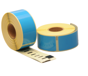 Dymo 99010 compatible labels, 89mm x 28mm, 260 etiketten, blauw, permanent