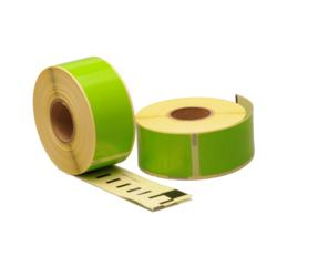 Dymo 99010 compatible labels, 89mm x 28mm, 260 etiketten, groen, permanent