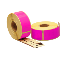 Dymo 99010 compatible labels, 89mm x 28mm, 260 etiketten, roze, permanent