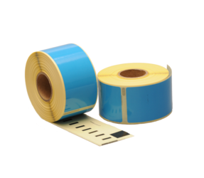 Dymo 99012 compatible labels, 89mm x 36mm, 260 etiketten, blauw, permanent