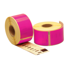 Dymo 99012 compatible labels, 89mm x 36mm, 260 etiketten, roze, permanent