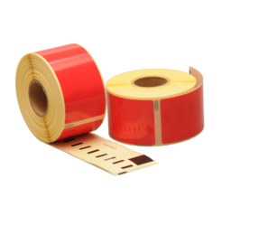 Dymo 99012 compatible labels, 89mm x 36mm, 260 etiketten, rood, permanent