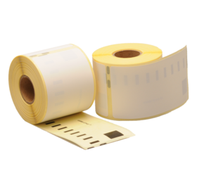 Dymo 99014 / S0722430 compatible labels, 101mm x 54mm, 220 etiketten, blanco, permanent