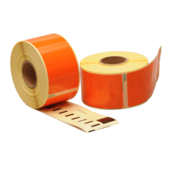 Seiko SLP-2RLE compatible labels, 89mm x 36mm, 260 etiketten, oranje, permanent