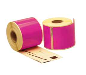 Seiko SLP-SRL compatible labels, 101mm x 54mm, 220 etiketten, roze, permanent