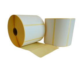 Zebra (87000) compatible labels, 100mm x 50mm, 1.300 etiketten, 25mm kern, wit, permanent