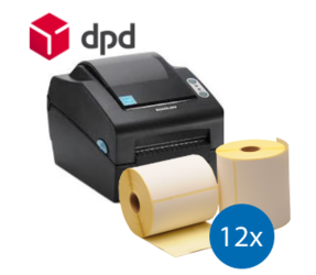 Lot d'initiation DPD : Bixolon imprimante SLP-DX420EG ethernet + 12 rouleaux d'étiquettes compatibles 102mm x 150mm