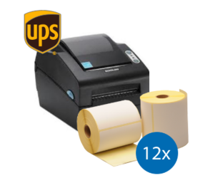 Lot d'initiation UPS : Bixolon imprimante SLP-DX420EG ethernet + 12 rouleaux d'étiquettes compatibles 102mm x 150mm