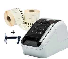 Brother QL810W printer + 12 rollen Brother DK-11202 compatible labels